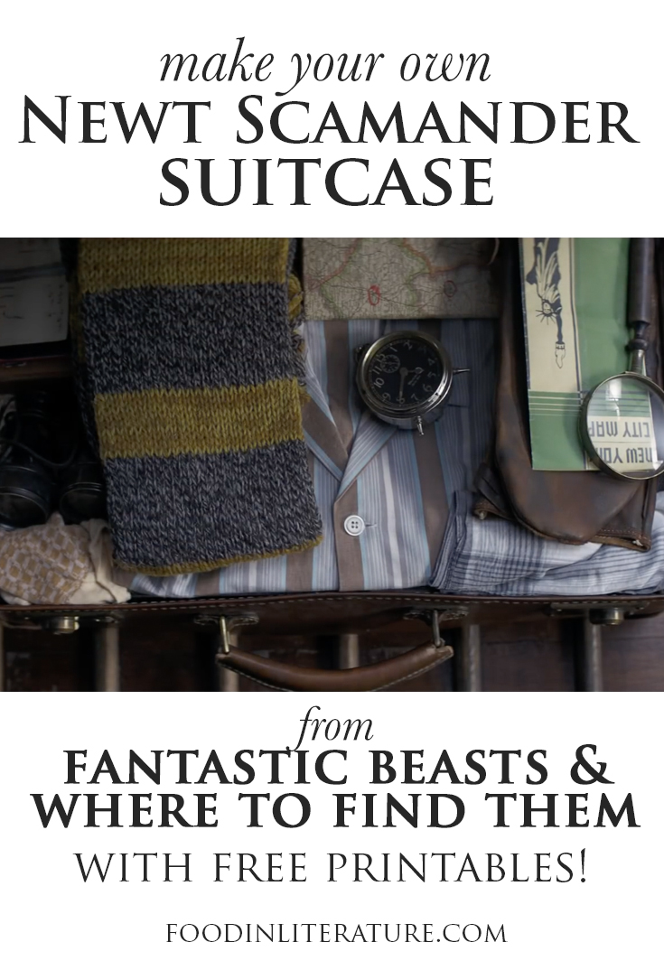 Create your own Newt Scamander suitcase, with links to items plus free downloadables!