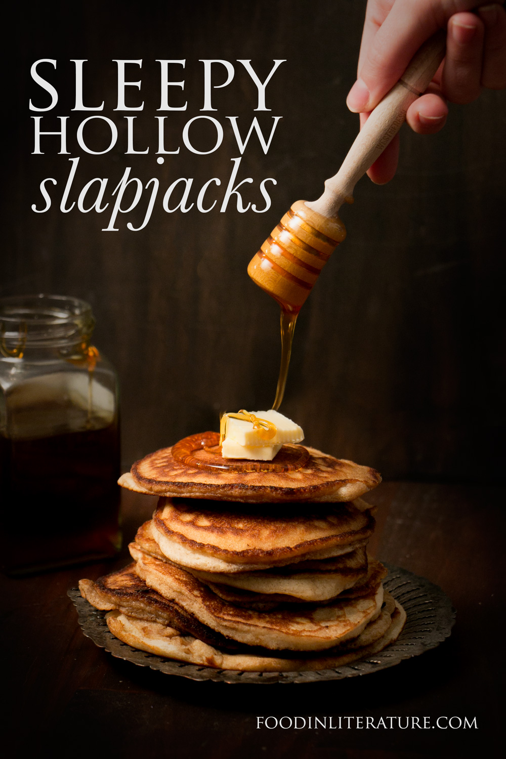 Start your October mornings off right with Sleepy Hollow slapjacks. Not only are they super easy for only a few ingredients, they're gluten free too!