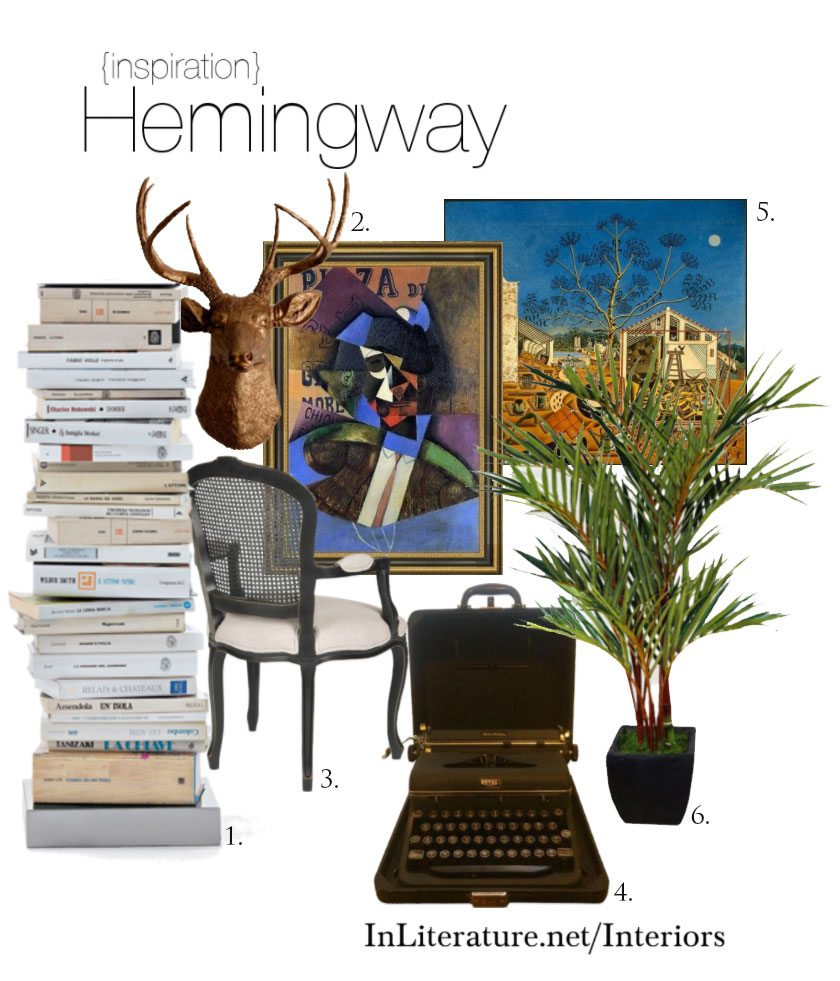 Whether you're designing your house or just wanting to spruce up a room, take some interior inspiration from your favourite author, Ernest Hemingway.