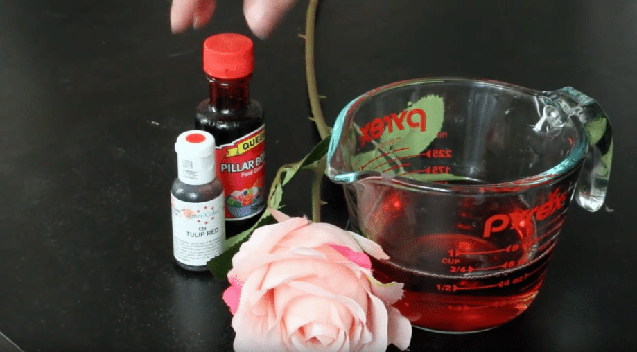 Beauty and the Beast rose dome tutorial | Dying the faux pink rose