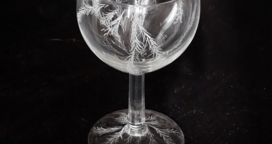 Beauty and the Beast rose dome tutorial | Practice glass etching on a wine glass before you start on the glass dome