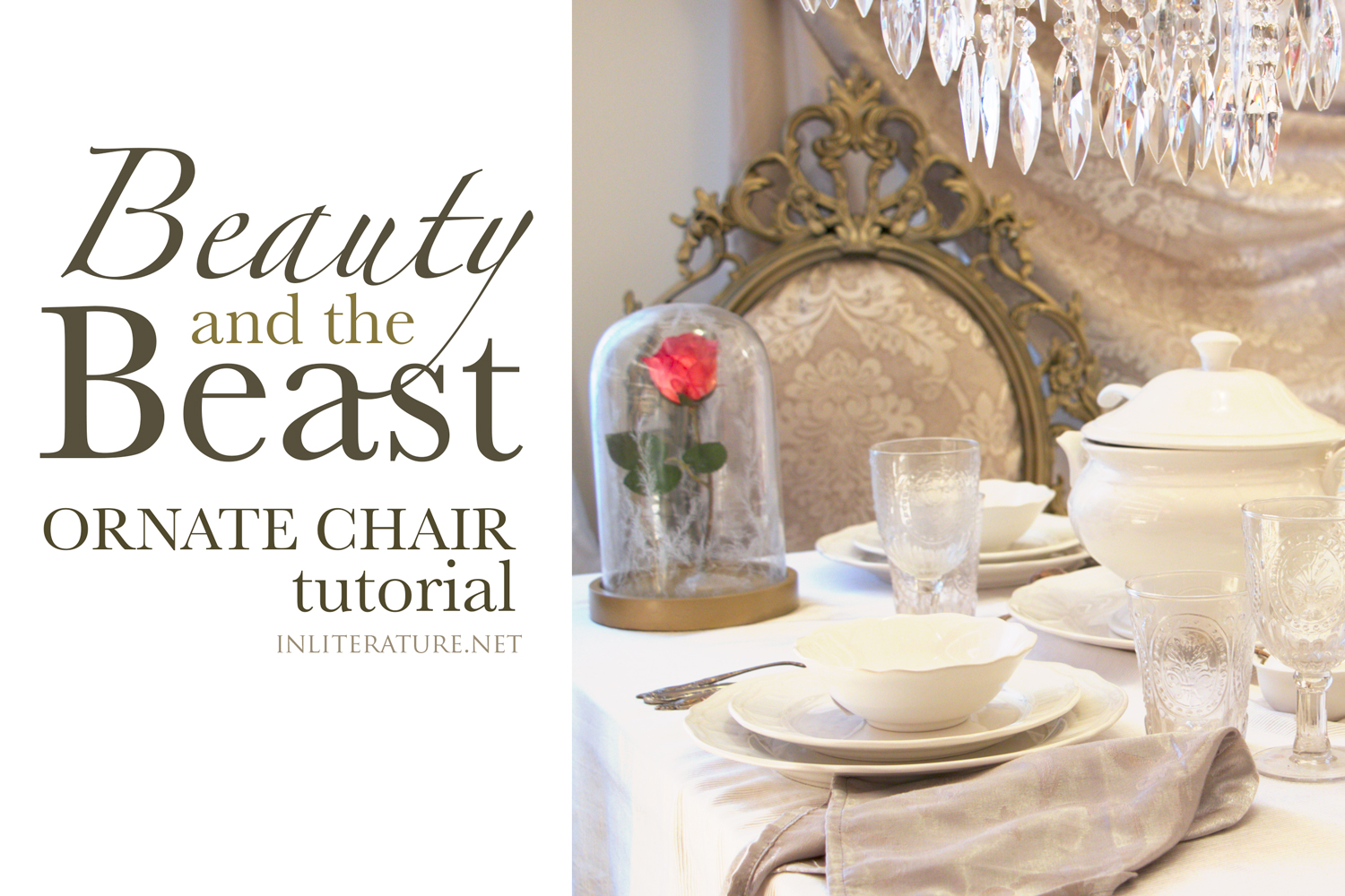 Tutorial on how to easily make a Beauty and the Beats ornate chair for a dinner party.