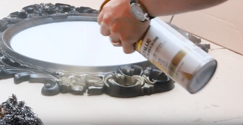Beauty and the Beast tutorial | spray the gold paint in a well ventilated area.
