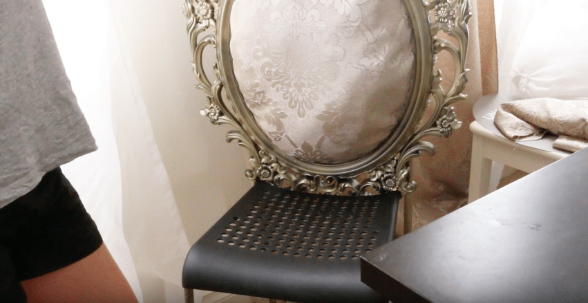 Beauty and the Beast tutorial | Attach frame to chair base using epoxy resin or metal wire