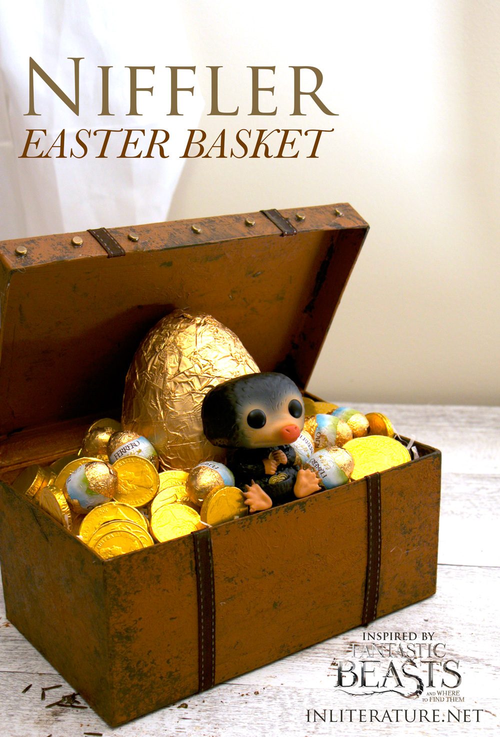 Easily make a Niffler Easter Basket, inspired by Fantastic Beasts and Where To Find Them.