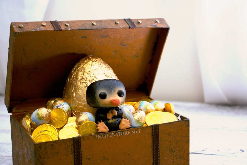 Niffler Easter Basket, inspired by Fantastic Beasts and Where To Find Them