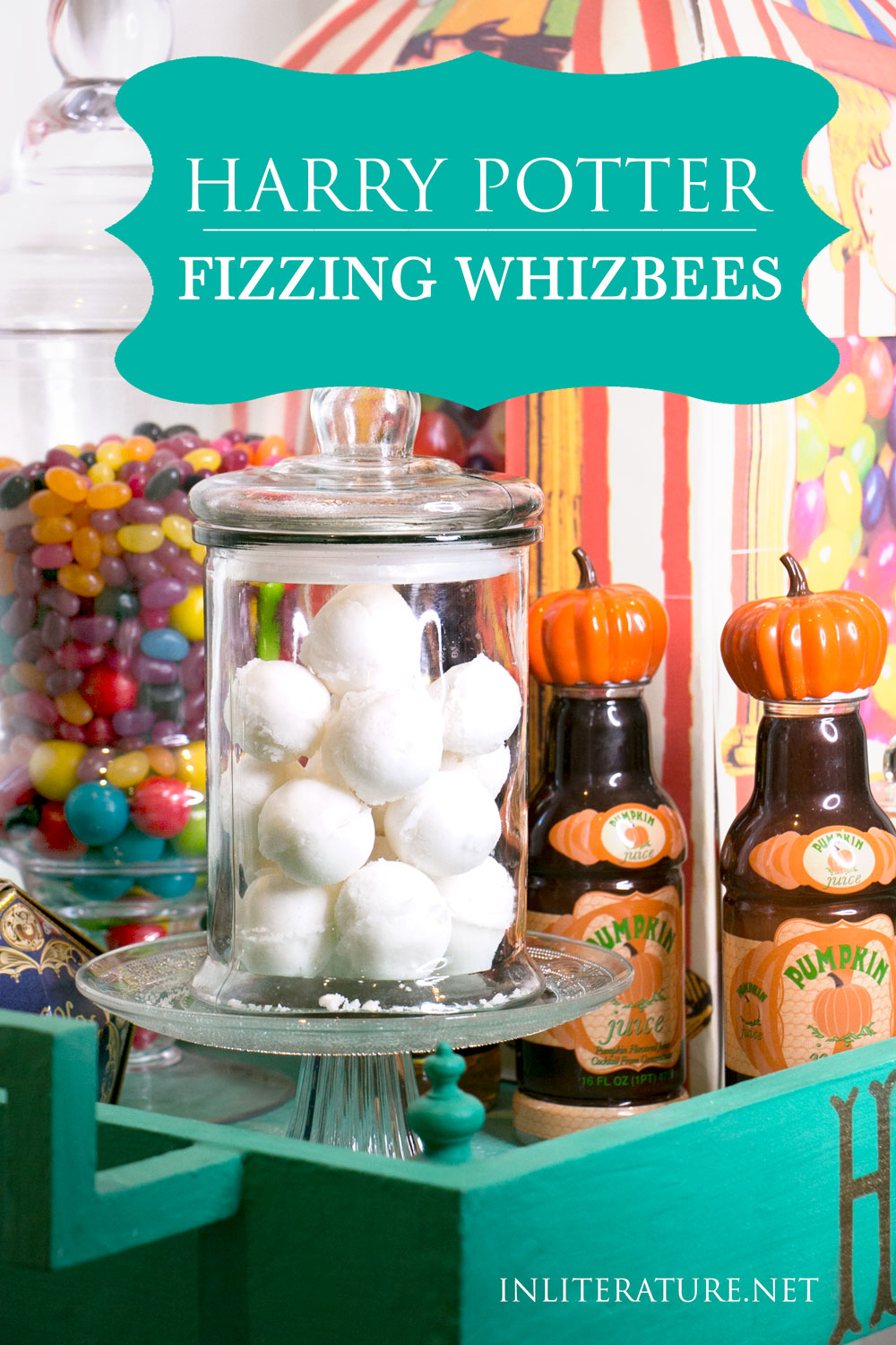 Make super simple fizzing whizbees like they're described in the Harry Potter series, sherbet balls. Unfortunately, we can't help you with the levitating part, though!
