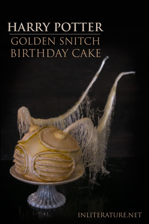 Golden Snitch Birthday Cake