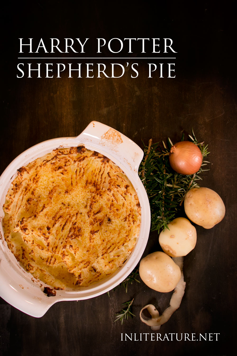 A simple yet filling main meal from Harry Potter, Shepherd's Pie is perfect as either a midweek meal or as a dish for a dinner party.