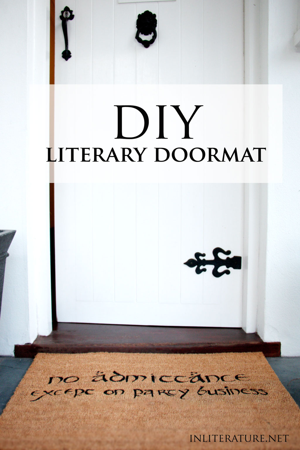 Our home reflects who we are, so it only makes sense to extend our style to our front door. Follow along today with this easy DIY literary doormat tutorial. Included is a template for a Hobbit themed doormat, however it's easy to design your own.