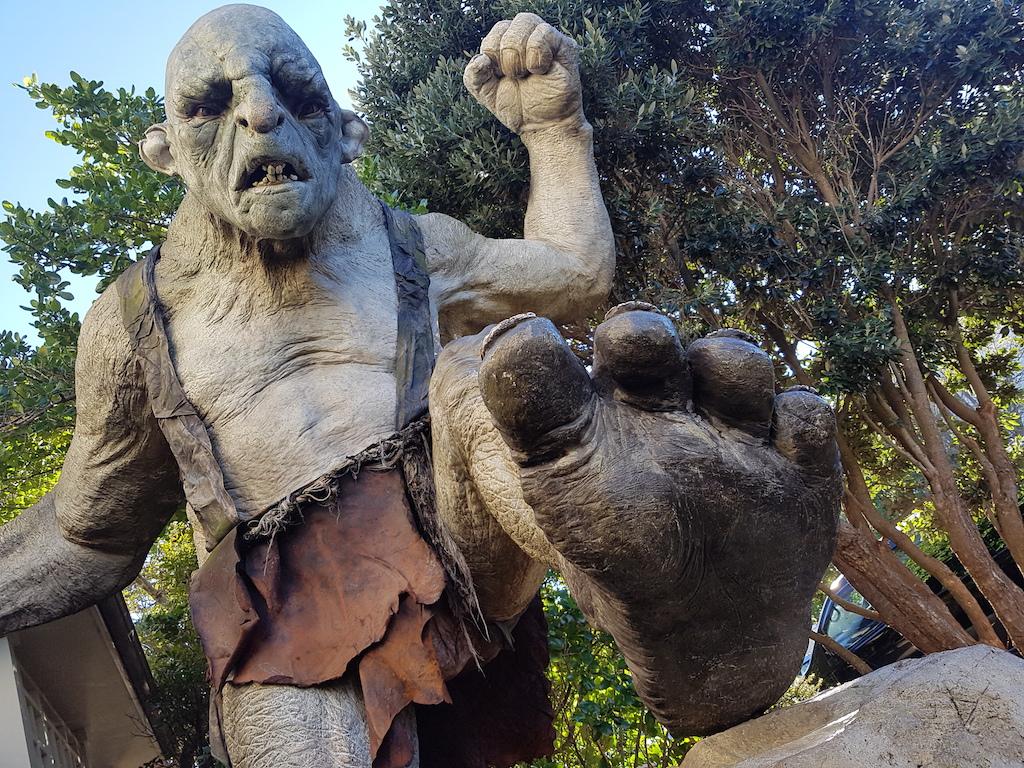 Weta Cave trolls in Wellington, New Zealand
